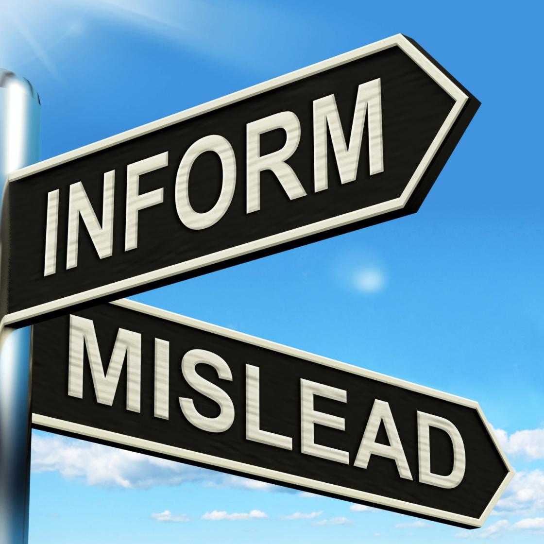Inform Mislead Signpost Means Advise Or Misinform