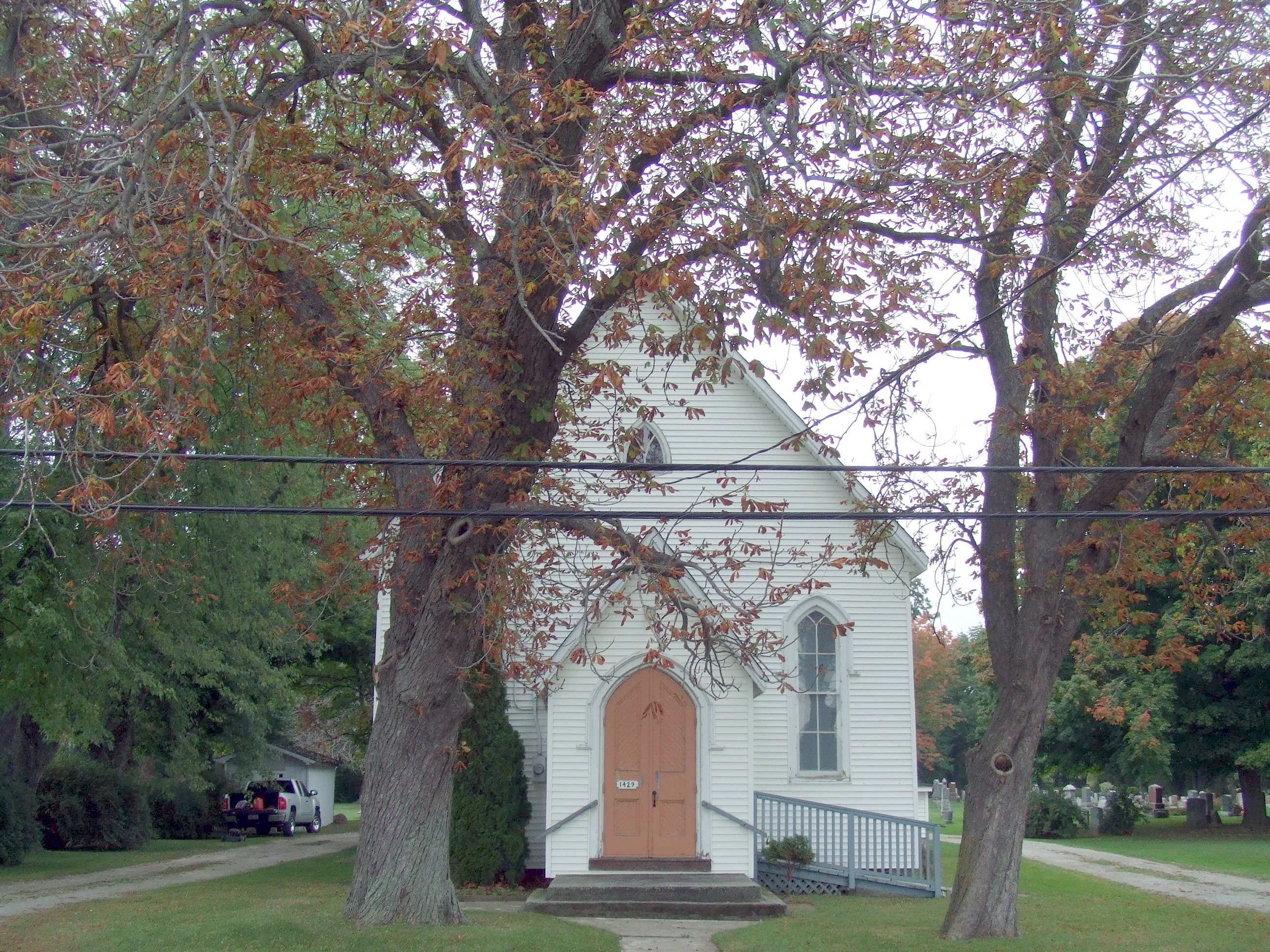 Church at cemetery