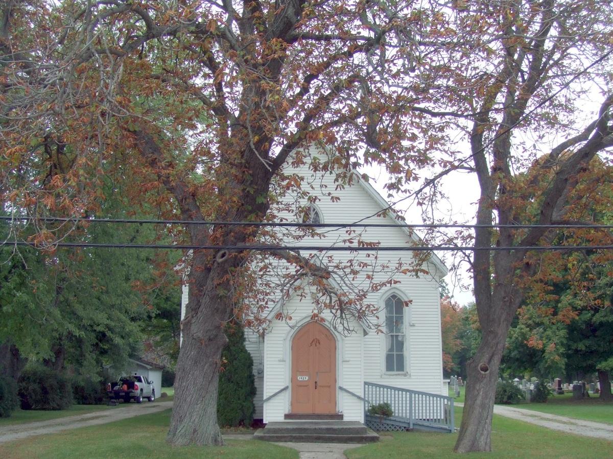 Church at cemetery
