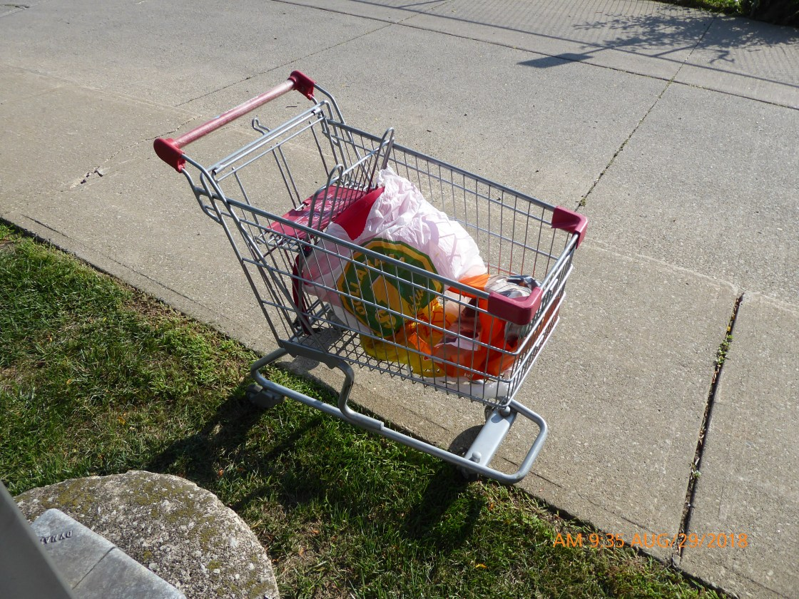 Abandoned supermarket cart